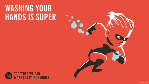 Photo of Disney's Incredibles campaign promoting park health and safety