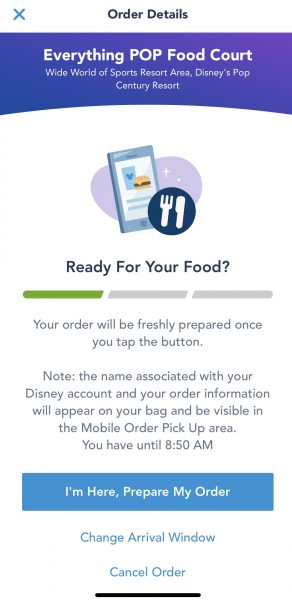 Mobile Order at Walt Disney World