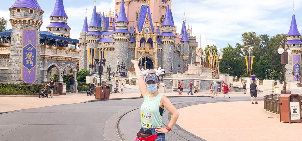 Photo of Disney blogger Magic-Ally Main Street wearing a mask at Walt Disney World