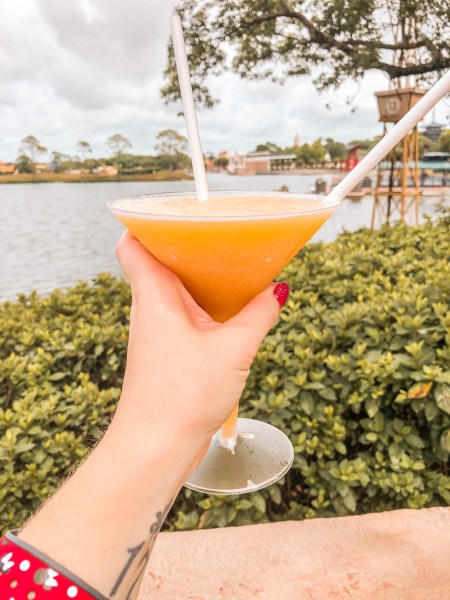 Frozen martini in France pavilion at Epcot