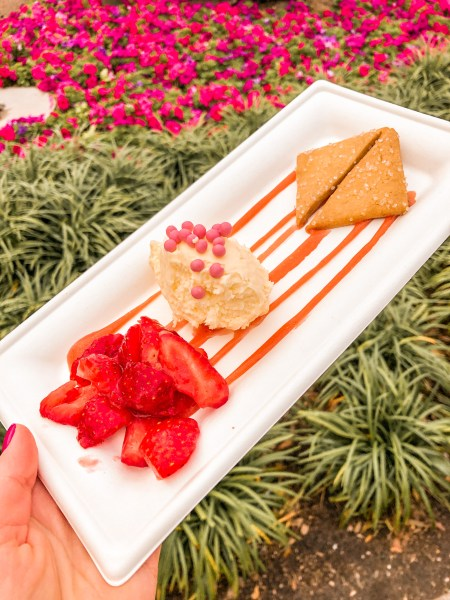 deconstructed strawberry cheesecake at 2021 festival of the arts