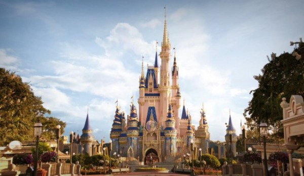 new daytime look for cinderella castle during disney world's 50th anniversary