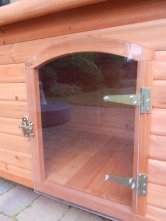 Plexiglass doghouse door