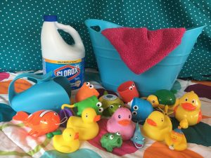 how to clean and disinfect bath toys bleach magical mama blog