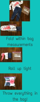 baby packing clothes tutorial ziplock hefty bag organizing