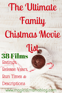 The Ultimate Family Christmas Movie List Ratings Descriptions release dates run times magical mama blog
