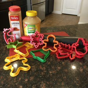 magical mama blog ingredients cinnamon applesauce ornaments christmas tree decor cookie cutters rolling pin