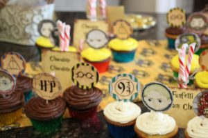 magical mama blog harry potter first birthday party cup cake toppers