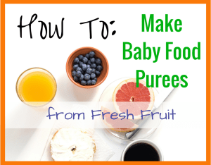Magical Mama Blog How To Make Baby Food Purees from Fresh Fruit