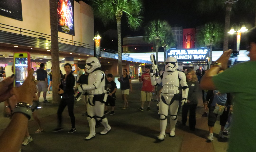 Storm Troopers in Launch Bay at Disney's Hollywood Studios in Orlando.