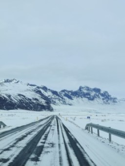 Icy roads in Iceland