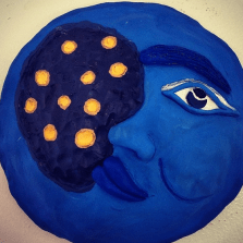 "Clay Mask ""Moon"""