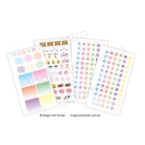 Kit adesivos vibrante Magic Planner personal