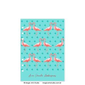 Dashboard Flamingos - tamanho A5