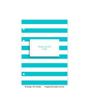 Dashboard Listras Turquesa - tamanho A5