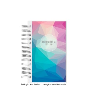 Magic Planner tamanho personal com wire-o prata - Abstract winter