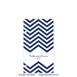 Dashboard Chevron Azul Marinho - tamanho Personal