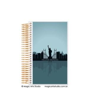 Magic Planner tamanho personal com espiral dourado - Cities New York