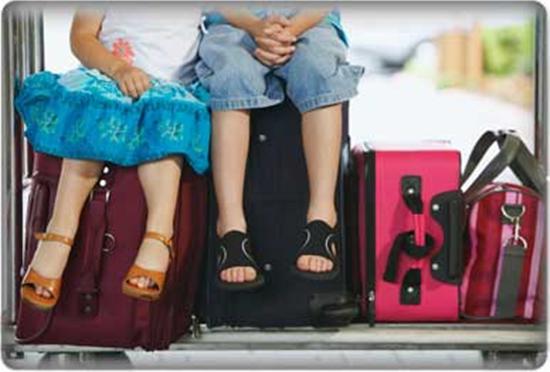 viajando com criança pequena