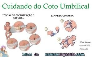 Cuidados Umbigo bebê
