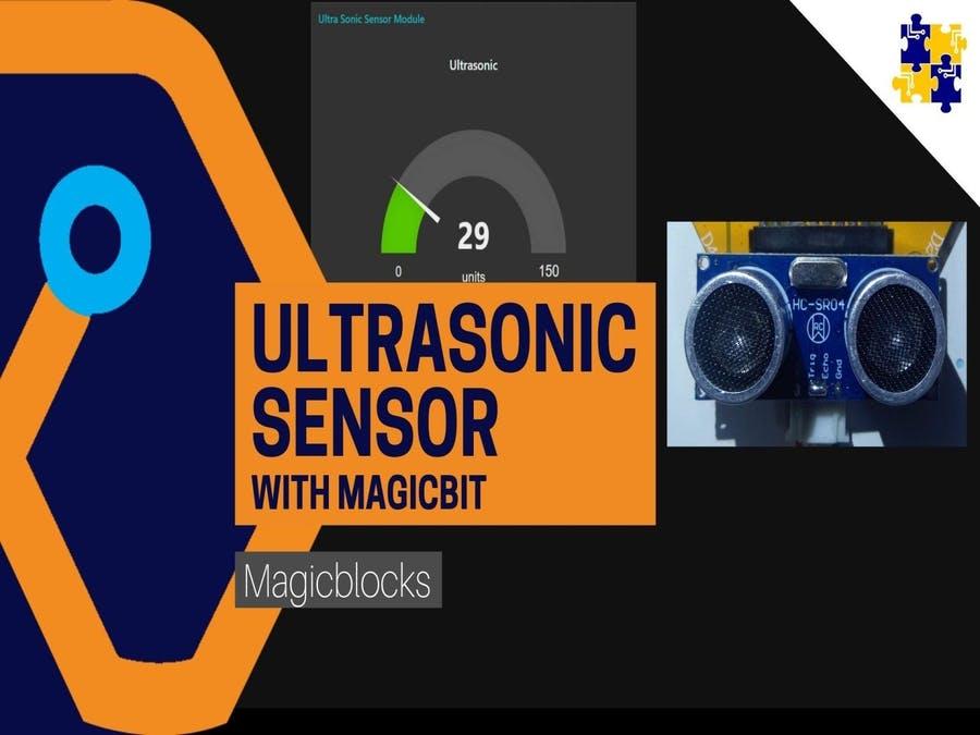 Magicblocks Lesson 10: Ultrasonic Distance Sensor