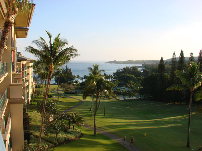 Looking out from the Ritz Carlton Kapalua, Maui, Hawaii