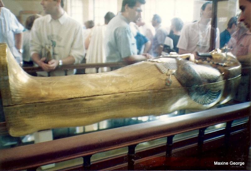 King Tutankhamen's solid gold coffin