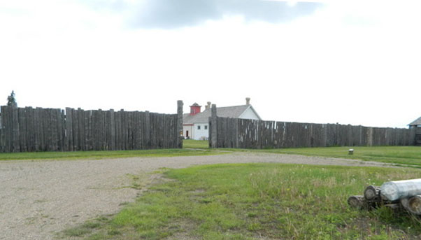 Louis Rîel - Fort Battleford and the North West Mounted Police Post Saskatchewan, Canada