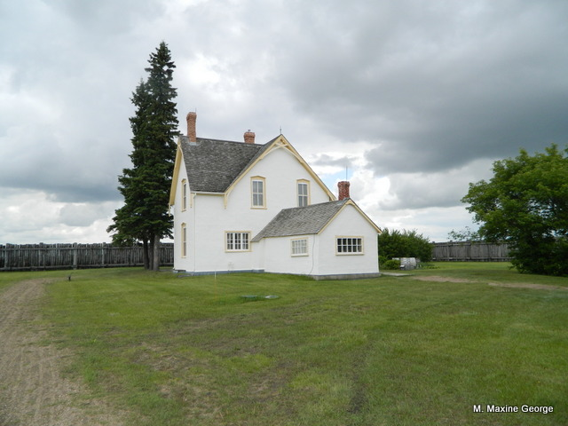 Crozier House, Fort Battleford Louis Rîel - Fort Battleford and the North West Mounted Police Post Saskatchewan, Canada
