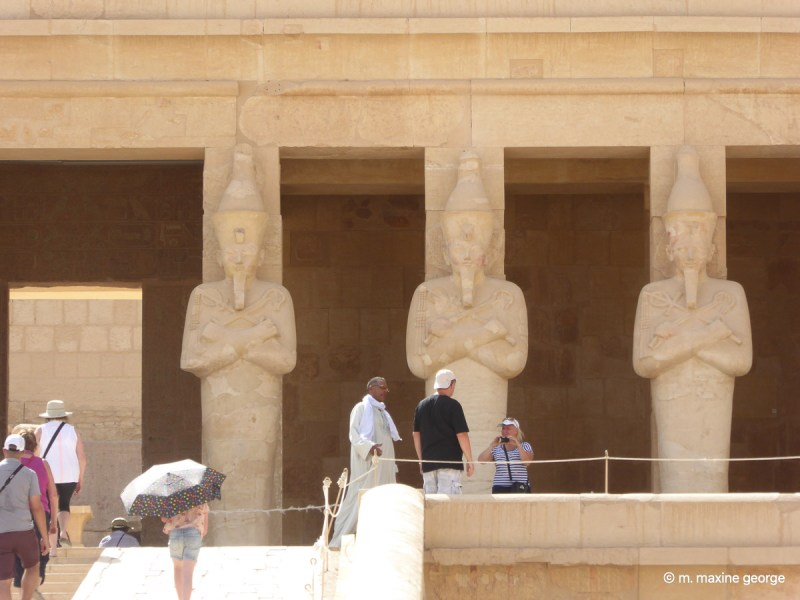 Statues at entrance of Hatshepsut temple