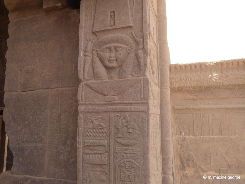 Temple of Isis Philae wall scriptures