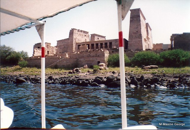 The Temple of Philae appears from the water