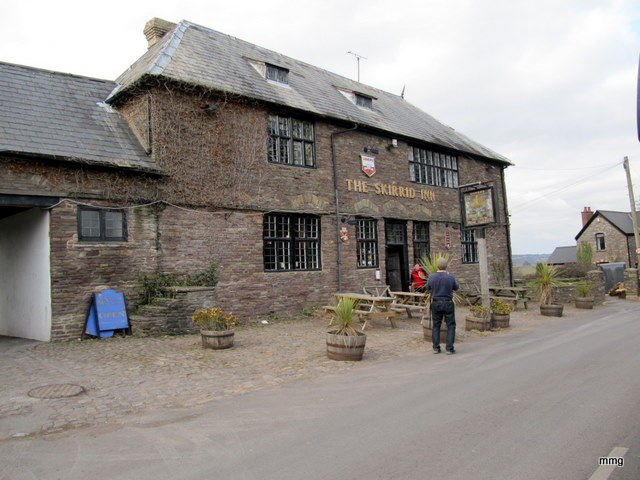 The Skirrid Inn or Skirrid Mountain Inn, Abergavenny, Wales Photo by M. Maxine George