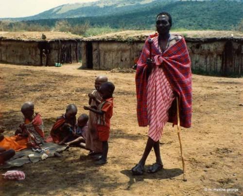 kenya masai village family