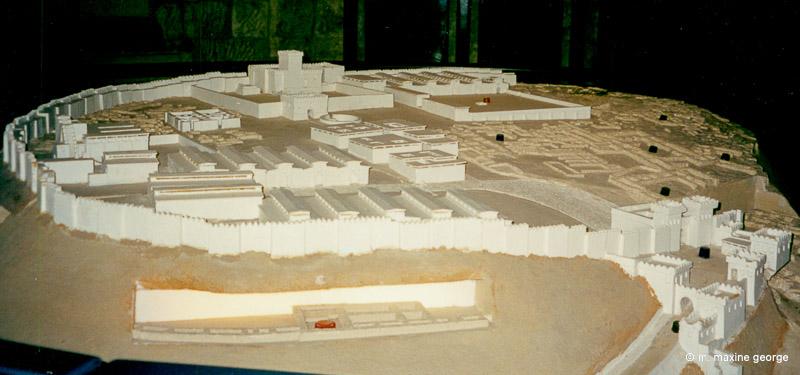 Diagram of Megiddo, museum picture