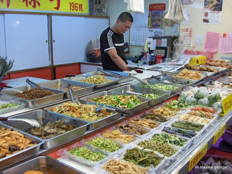 Market food choices taste of orient, culinary adventure of the food in Taiwan.