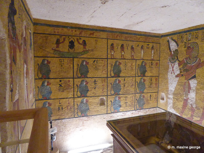 Twelve Monkeys indicating the Twelve hours of night. King Tut, Valley of the Kings