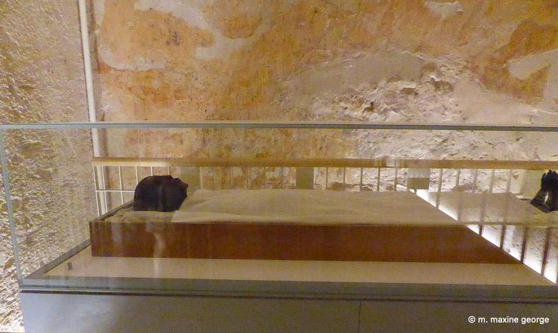 The mummy of King Tutankhamen
