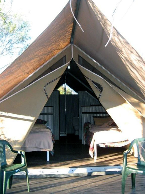 Another view of our tented accommodation at the Bungle Bungle Wilderness Lodge, Australia.