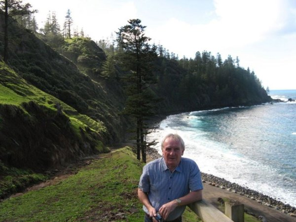 Barry at Ball Bay, Norfolk Island Photo courtesy of Heather and Barry Minton