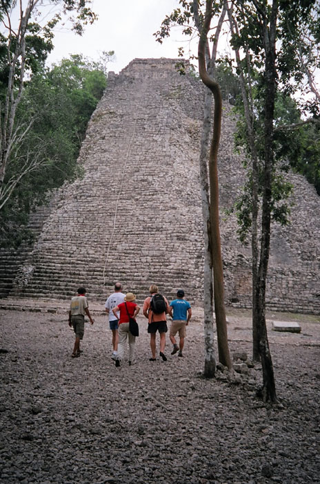Mexico's Nohoch Muul attracts climbers. Mayan Adventure