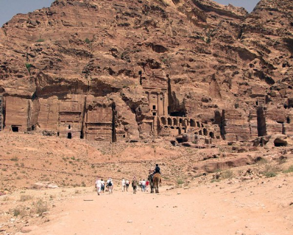 Royal Tombs in Jordan's Petra. Photo by Margaret Deefholts