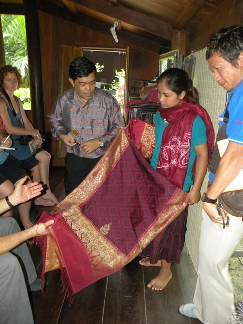 Silk fabric fit for a King produced in Isan, Thailand Photo by Rick Butler