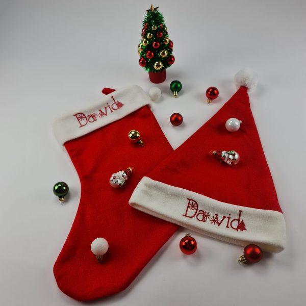 Kerst en sok met naam david