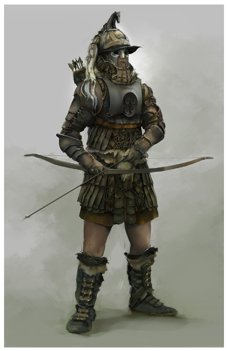 Concept art of a man with soldier outfit
