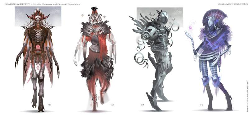Concept art drawings