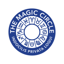 magic circle logo. Manchester Magician Magic Frank is a member.