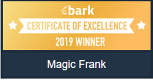 One of Manchester Magician Magic Frank's awards