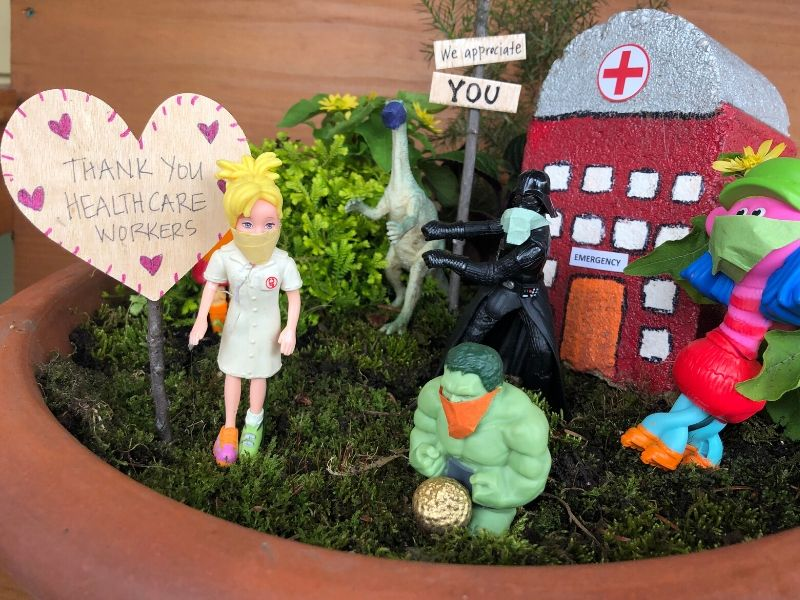 Healthcare worker and hospital Magic Garden