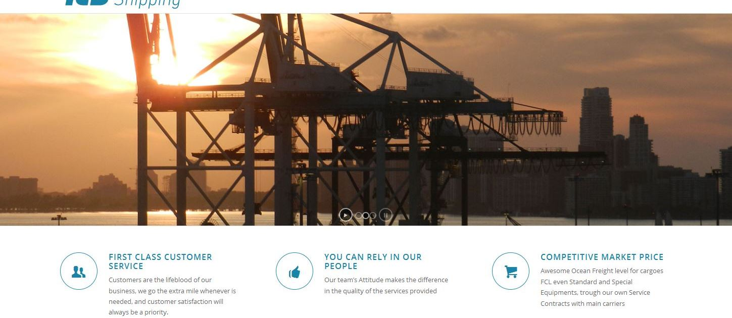 Shipping Company Website